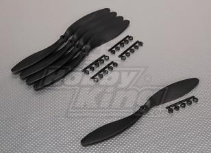 GWS Estilo Slowfly hélice 9x4.7 Negro (CCW) (5pcs)