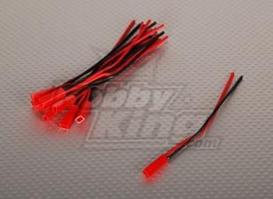 Hombre JST batería flexible de conexión de 12 cm de longitud (10pcs / bag)