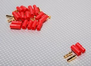 HXT 3,5 mm conector de oro w / Protector (10pcs / set)