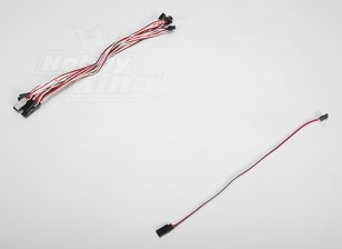 30CM Servo plomo (Futaba) 32AWG Ultra Light (10pcs / set)