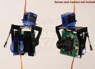 Fibra de vidrio FPV Pan-Tilt montaje de cámara de la L-Tamaño