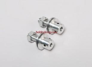 Prop adaptador w / Acero Tuerca M8x6mm eje (Grub tipo tornillo)