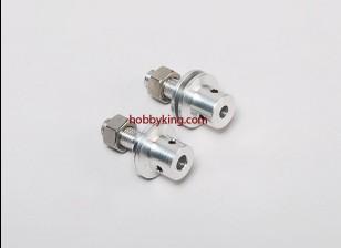 Prop adaptador w / Acero Tuerca del eje 5 / 16x24-M6mm (Grub tipo tornillo)