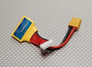 Dos conductores de carga del paquete (2 x 3S) 6S w / XT60