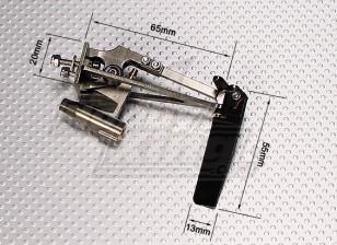 Doble Cuerno anodizado en línea puntal del timón w / Water Pick Up (Pequeño)