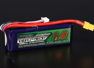 Turnigy nano-tech 1600mah 3S 25 ~ 50C Lipo Pack de