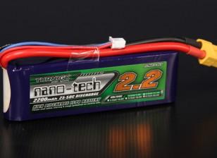 Turnigy nano-tech 2200mah 2S 25 ~ 50C Lipo Pack de