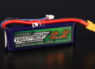 Turnigy nano-tech 2200mah 2S 35 ~ 70C Lipo Pack de