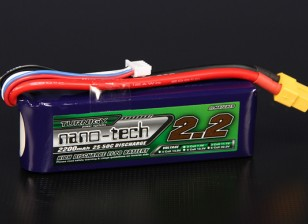 Turnigy nano-tech 2200mah 3S 25 ~ 50C Lipo Pack de