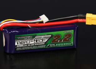 Turnigy nano-tech 2200mah 4S 25 ~ 50C Lipo Pack de