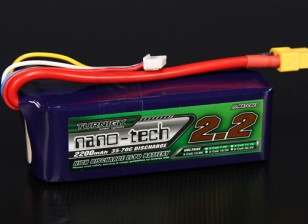 Turnigy nano-tech 2200mah 4S 35 ~ 70C Lipo Pack de