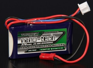 Turnigy nano-tech 370mAh 2S 25 ~ 40C Lipo Pack de