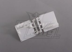Montaje servo / Protectores Blanco (1 juego / bolsa) 64mm x 67mm