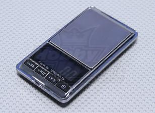 Escala de acero inoxidable digital de bolsillo