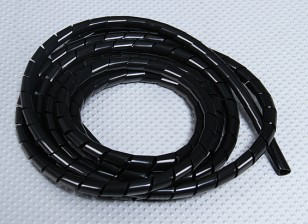 Manguito en espiral de 3 mm ID del tubo / OD 4 mm (Negro - 2m)