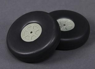 Escala de peso ligero de 90 mm de la rueda (2 piezas)