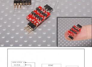 Controlador de velocidad sin escobillas HobbyKing XP 3A 1S 0,7 g