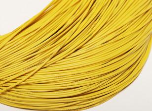 Turnigy Pure-silicona de alambre 24 AWG 1m (amarillo)