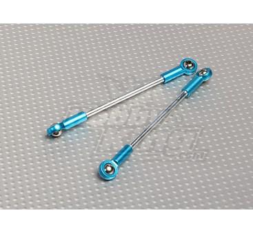 Varillas de empuje resistente con el enlace de bola termina M4x83mm (2pcs / bolsa)