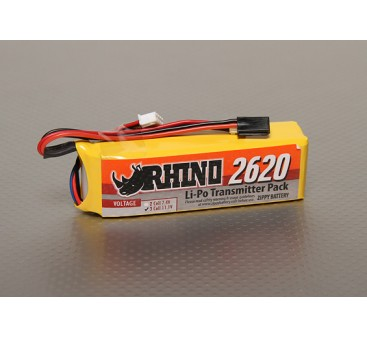 Rhino 2620mAh 3S 11.1v Low-Discharge transmisor Lipoly Paquete