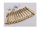 Doce 2-56 Gold-N-Cabezas de horquilla
