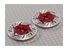 1/10 adaptadores de rueda del freno de disco de 12 mm Hex (rojo - 2 piezas)