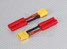 XT-60 a hxt plomo de 4 mm adaptador de la batería (2 piezas)