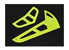 Amarillo de neón de fibra de vidrio horizontal / vertical Aletas Trex 450 V1 / V2 / Deportes / PRO