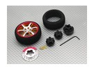 Transmisor de pistola de aleación de torneado de ruedas 6 de doble radio (oro)