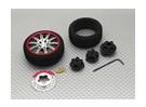 Transmisor de pistola de aleación de la rueda giratoria 10 radios (titanio)