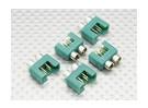 conector MPX con el anillo de color plateado, macho (5pcs por bolsa)