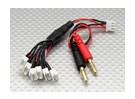 6 x cable de carga en paralelo JST-PH para E-Flite UMX Serie 2S Lipo