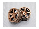 Escala 1:10 alta calidad Touring / deriva de las ruedas del coche RC de 12 mm Hex (2 piezas) CR-C63G
