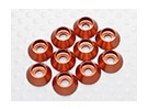 Sockethead arandela de aluminio anodizado M3 (Naranja) (10 piezas)