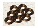 Avellanado arandela de aluminio anodizado M3 (Titanio Color) (8pcs)
