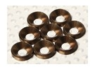 Avellanado Lavadora anodizado de aluminio M4 (color titanio) (8pcs)