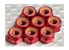 Aluminio anodizado tuercas M5 Nylock rojos (8pcs)
