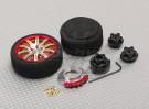 Transmisor de pistola de aleación de la rueda giratoria 10 radios (oro)