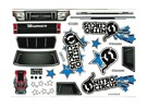 conjunto Decal - Nitro Circus Basher 1/8 Escala Monster Truck