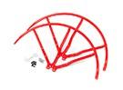 10 pulgadas de plástico universal multi-rotor hélice Guardia - Rojo (2set)