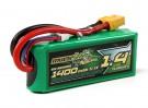 MultiStar Serie Racer 1400mAh 3S 65C Lipo Pack para FPV Minis (Oro Spec)
