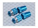 Aleación antideslizante TX Control de palos cortos (M3 para Futaba - azul)