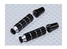Aleación antideslizante TX Control de palos largos (Futaba TX - Negro)