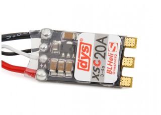 DYS XSC 20amp Mini BLHeliS w/OneShot142 Multi-Rotor ESC (Solder version)
