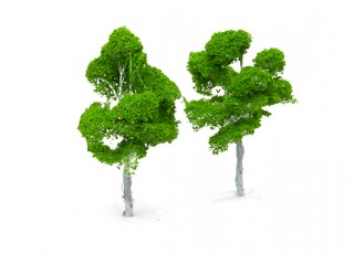 HobbyKing™ 140mm Scenic Wire Model Trees  (2 pcs)