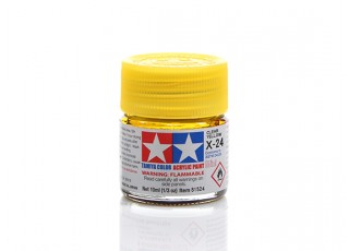 Tamiya X-24 Clear Yellow Mini Acrylic Paint (10ml)