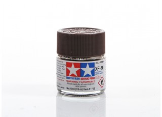 Tamiya XF-9 Flat Hull Red Mini Acrylic Paint (10ml)