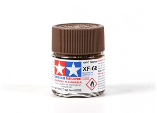 Tamiya XF-68 Flat Nato Brown Acrylic Paint (10ml)