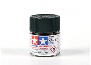 Tamiya XF-85 Rubber Black Acrylic Paint (10ml)