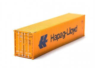HO Scale 40ft Shipping Container (Hapag-Lloyd) rear view